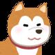 秋田犬の顔イラスト