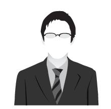 メガネを掛けた男性ビジネスマンの影絵2
